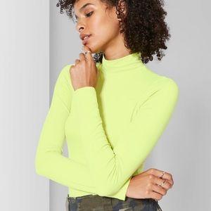 Neon Turtleneck Bodysuit